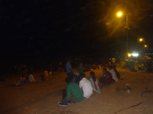 Juhu Beach at Night