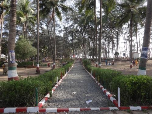 Garden near Devka beach