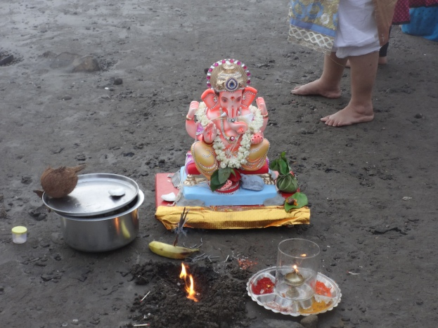 Ganesh aarti before the visharjan