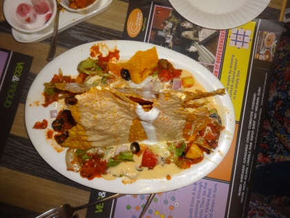 Nachos with Mexican Beans