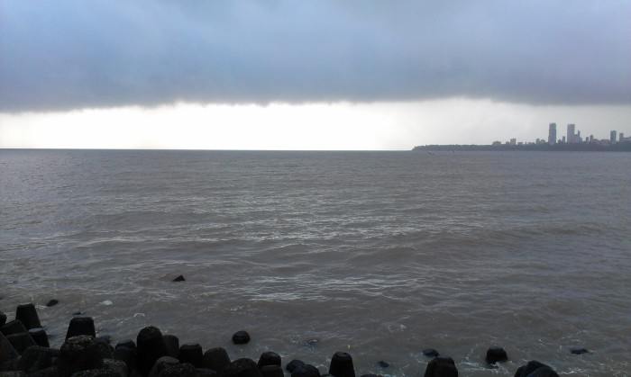 Sea view during rainy season