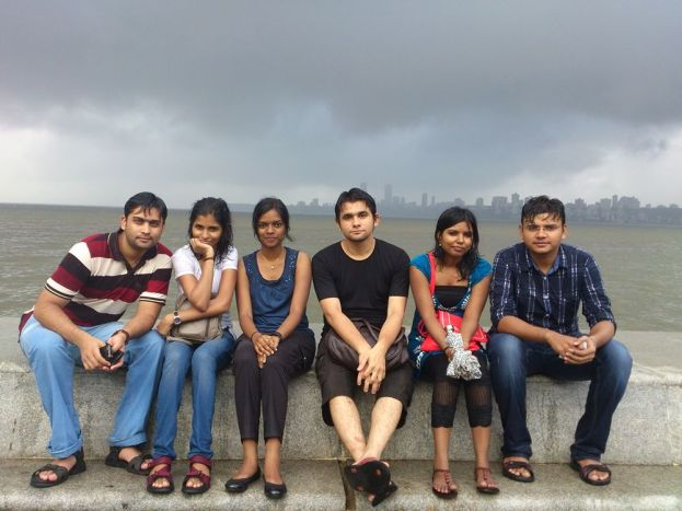 Enjoying Rain - Old picture with my buddies at Marine Drive