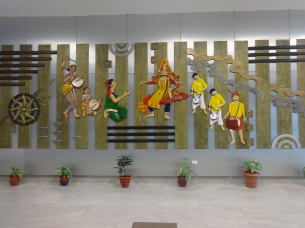 Beautiful wall art at  Chennai airport