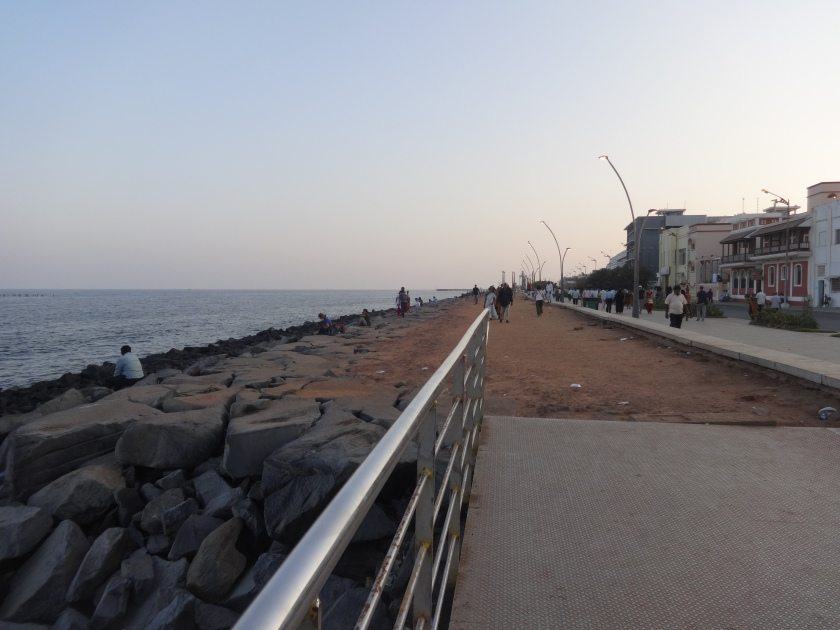 Promenade along with Pondicherry seafront