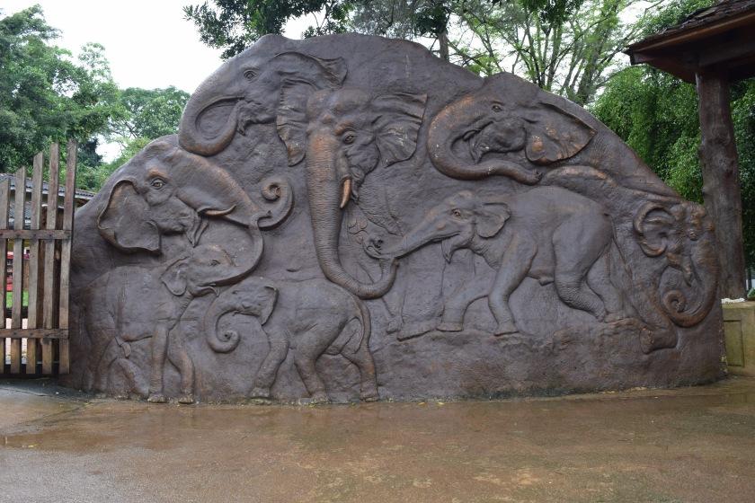 Wall of elephants
