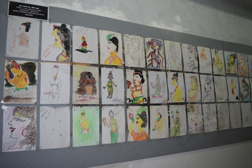 Painting by kids in Sigiriya Museum
