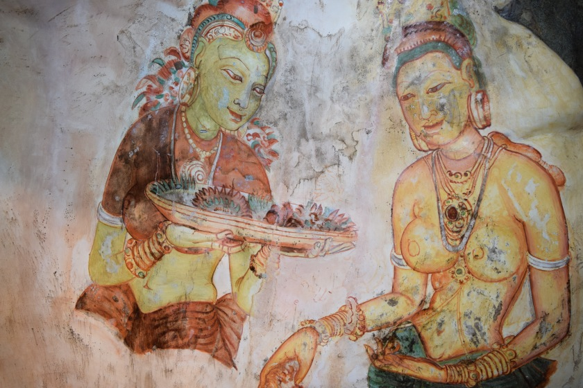 Wall paintings inside cave