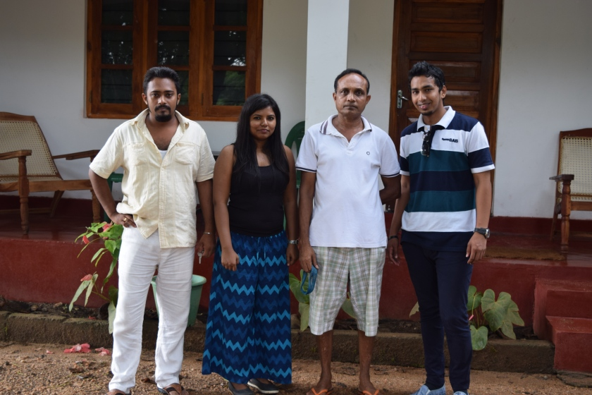 Manju at left and out host